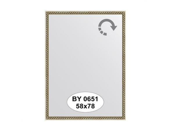 Зеркало в багетной раме EVOFORM витая латунь (58х78 см) BY 0651
