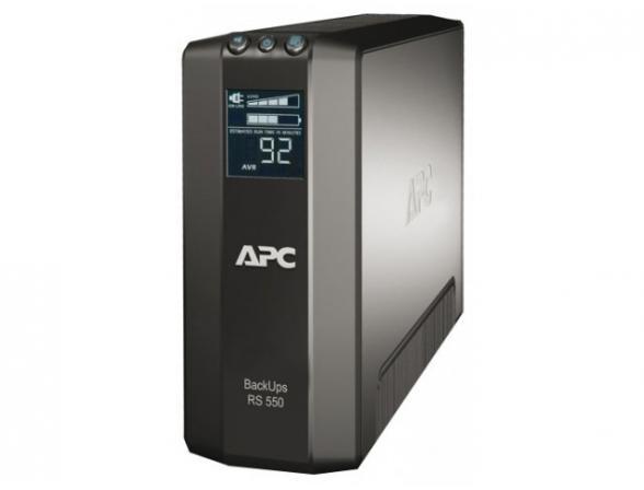 Источник бесперебойного питания APC by Schneider Electric Back UPS RS LCD 550  Master Control 330 Watts / 550 VA (3) + (3) BR550GI
