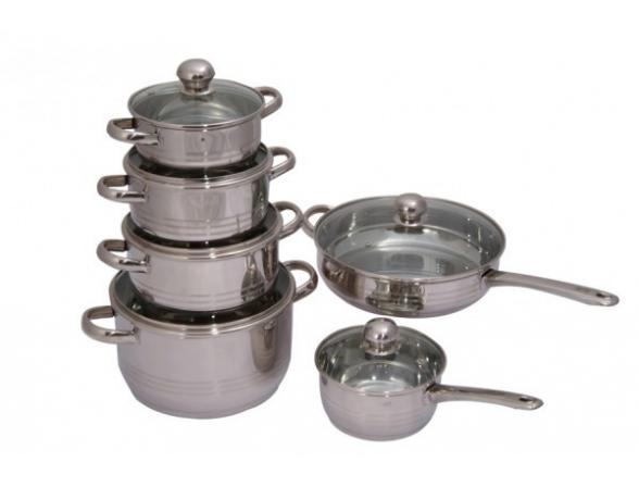 Набор посуды Regent Inox LUNA vitro 93-Lv11