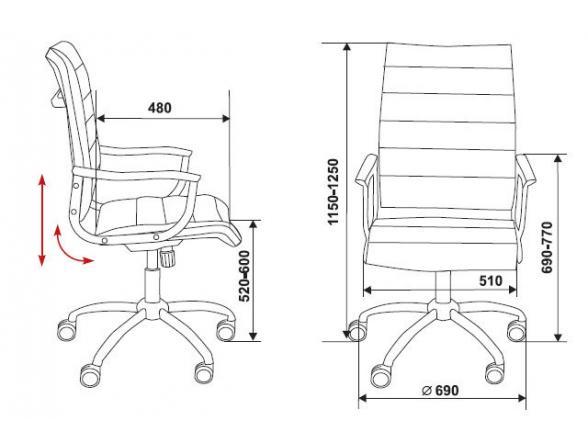 Кресло c высокой спинкой BURO CH-994