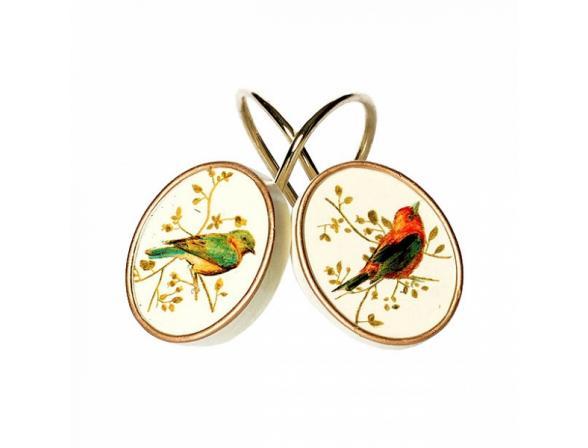 Набор из 12 крючков для шторки AVANTI Gilded Birds