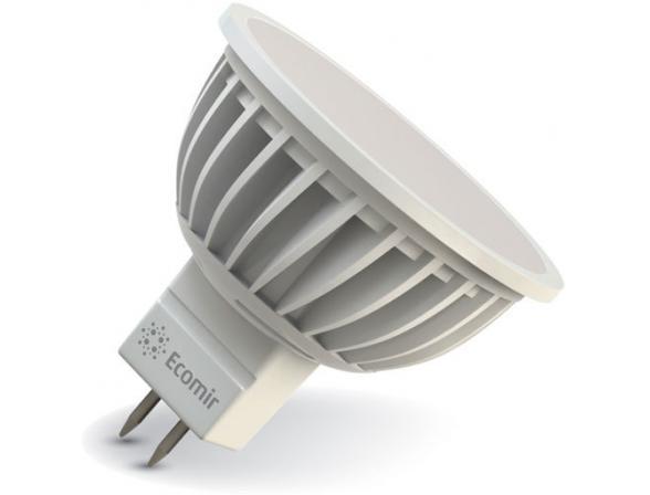 Светодиодная лампа Ecomir 5W MR16 GU5.3 220V, 5 Вт, жёлтый/ матовый рассеиватель 43125