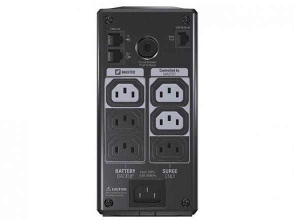 Источник бесперебойного питания APC Back UPS RS LCD 550  Master Control 330 Watts / 550 VA (3) + (3) BR550GI