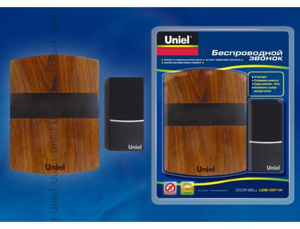 Звонок беспроводной Uniel UDB-001W-R1T1-32S-100M-MB