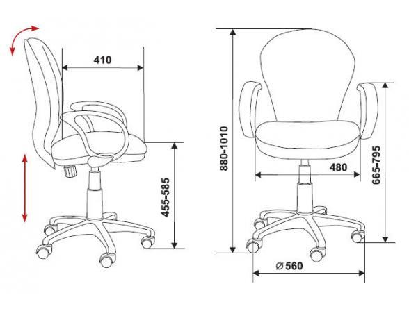 Кресло BURO CH-697AXSN/TW-11