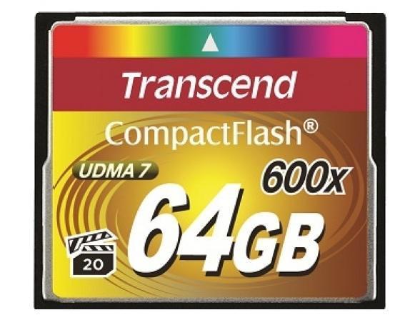 Флэш память Transcend 64Gb Compact Flash TS64GCF600