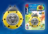 Светильник ночник Uniel DTL-354 Божья Коровка/Yellow/3LED/3AAA