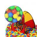 Палатка игровая+100 шаров EDU-PLAY 3-угольный складывающийся каркас с тентом