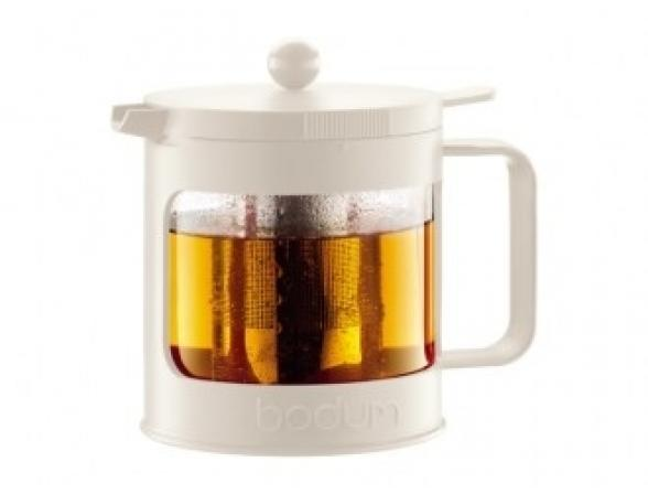 Чайник заварочный c прессом BODUM Bean 1.0л белый