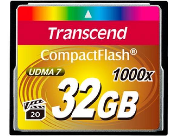 Флэш память Transcend 32Gb Compact Flash TS32GCF1000 1000x