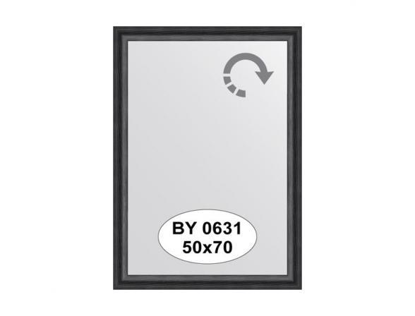 Зеркало в багетной раме EVOFORM дуб черный (50х70 см) BY 0631