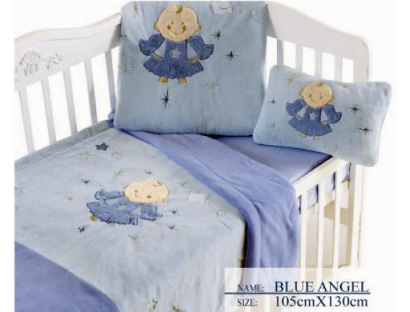 Плед для новорожденных ARYA Blue Angel 105х130