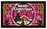 Коврик придверный PHP SRL Format Glitter 21103 Рождество