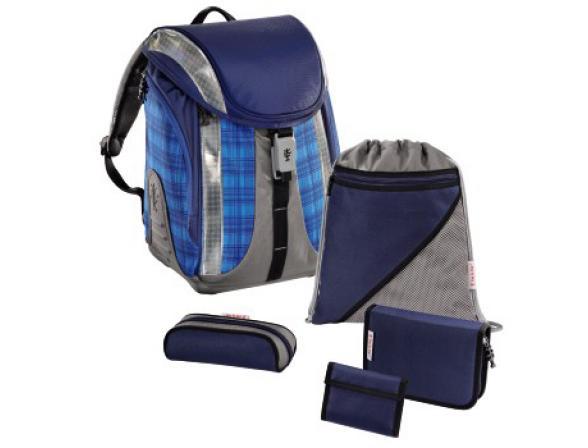 Ранец школьный STEP BY STEP Ultra Blue Сhecked Flexline