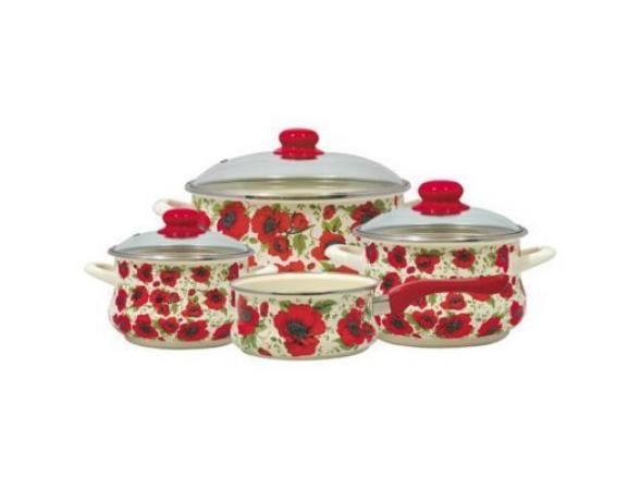 Набор посуды МЕТРОТ 6/1+Ковш 16см с мет.руч.