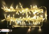 Светодиодная гирлянда Rich LED 10 м, 220В, цвет теплый белый, с герметичным колпачком.