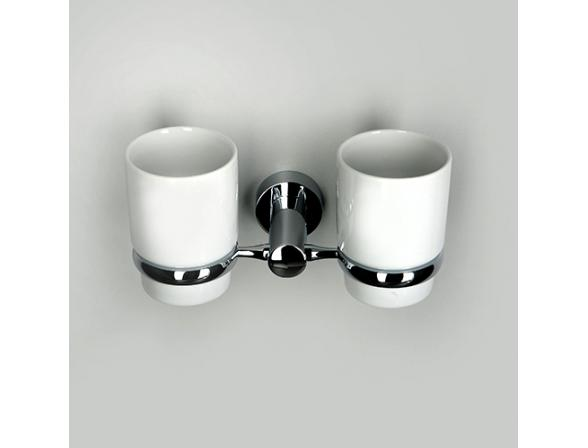 Подстаканник WasserKRAFT Donau с 2 стаканами, K-9428DC, керамика