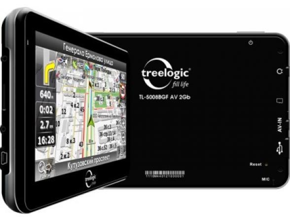 Навигатор Treelogic TL-5008BGF AV - 2Gb