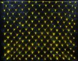 Светодиодная сетка Rich LED 2*1.5 м, цвет: желтый. Прозрачный провод.