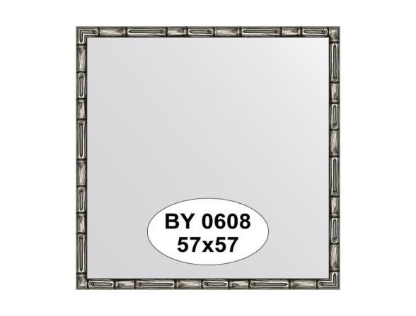 Зеркало в багетной раме EVOFORM серебро/бамбук (57х57 см) BY 0608