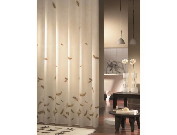Шторка SEALSKIN Feathers коричневый 180х200см (231651370)