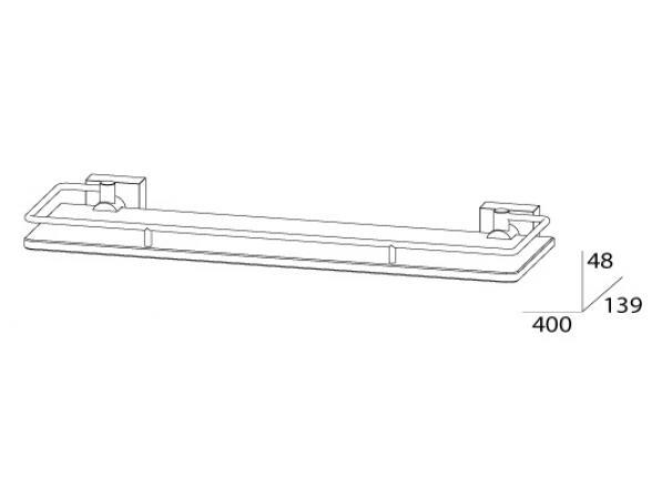 Полка с ограничителем FBS ESPERADO 40 см ESP 014
