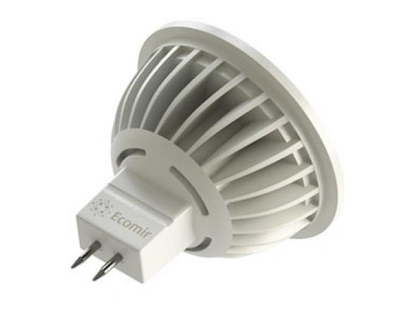 Светодиодная лампа Ecomir 4W MR16 GU5.3 220V, 4 Вт, жёлтый/ матовый рассеиватель 43118