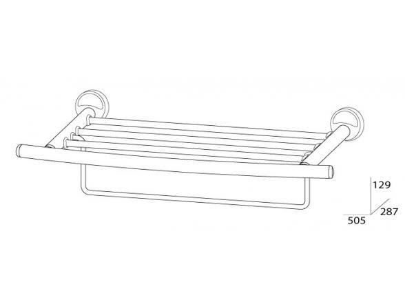 Полка для полотенец с нижним держателем FBS ELLEA 50 см ELL 041