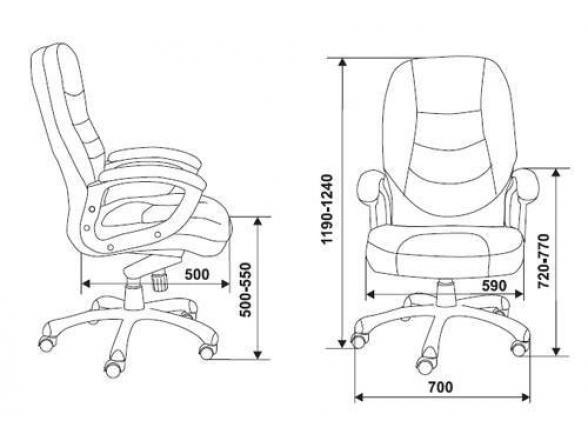 Кресло руководителя BURO T-9970AXSN/Black