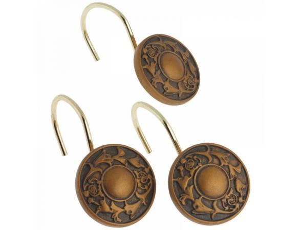 Набор из 12 крючков для шторки CARNATION Regency Bronze