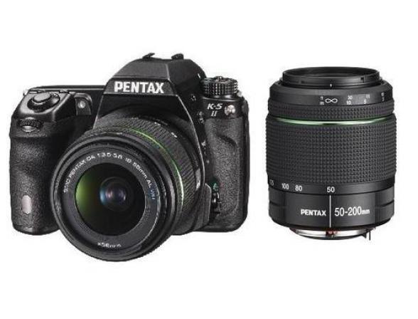 Зеркальный фотоаппарат Pentax K-5 II Kit DA 18-55 WR + DA 50-200 WR