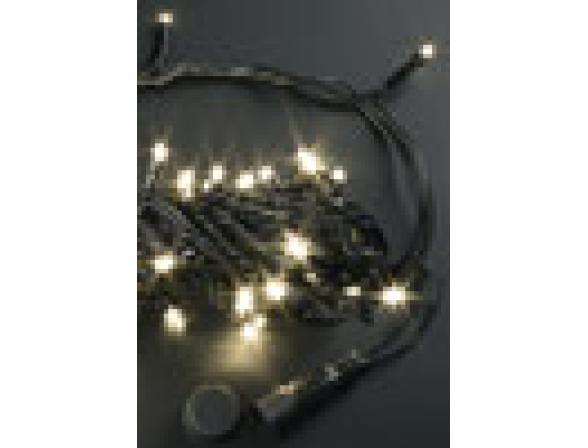 Светодиодная гирлянда Rich LED нить 10 м, 24В, цвет: теплый белый.  Черный провод.