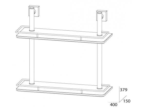Полка с ограничителем двойная FBS ESPERADO 40 см ESP 063