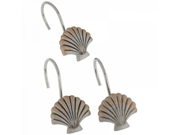 Набор из 12 крючков для шторки CARNATION Seaside Silver