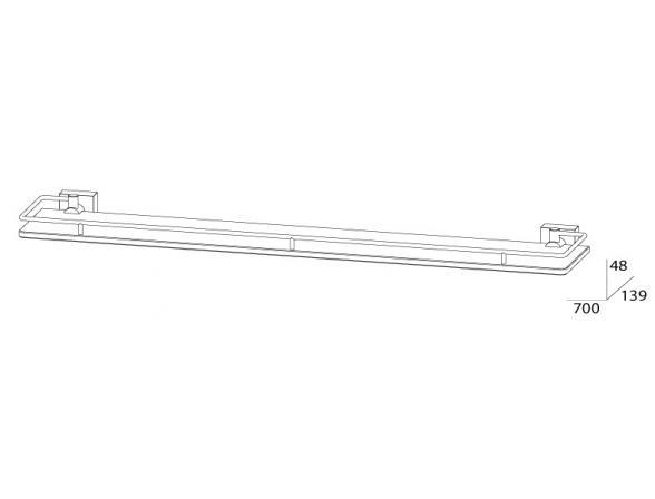Полка с ограничителем FBS ESPERADO 70 см ESP 017