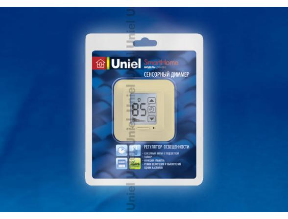 Сенсорный диммер Uniel USW-001-LCD-DM-40/500W-TM-M-BG