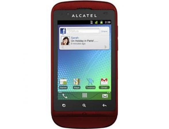 Телефон Alcatel OT918D Cherry red