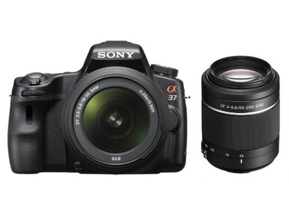 Зеркальный фотоаппарат Sony Alpha SLT-A37Y Kit 18-55 + 55-200