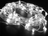 Светодиодная гирлянда Flesi 10 м, цвет белый,  прозрачный провод