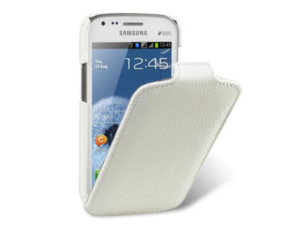 Melkco Leather Case for Samsung Galaxy S Duos S7562 - Jacka Type (White LC)