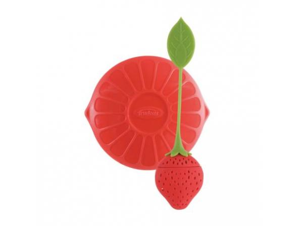 Ситечко силиконовое для заваривания чая Trudeau Клубничка цвет: красный