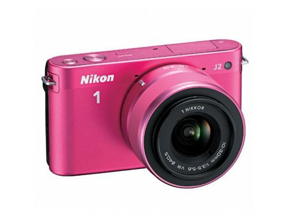 Цифровой фотоаппарат Nikon 1 J2 kit 10–30mm VR Pink