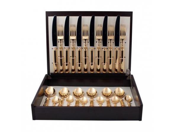 Набор столовых приборов CUTIPOL PICCADILLY GOLD 9141 24 пр.