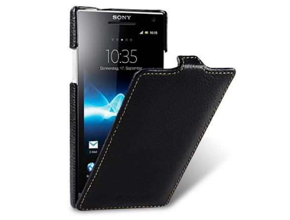 Чехол Melkco Premium Leather Case for Sony Xperia S(LT26i) - Jacka Type (Dark Blue LC)