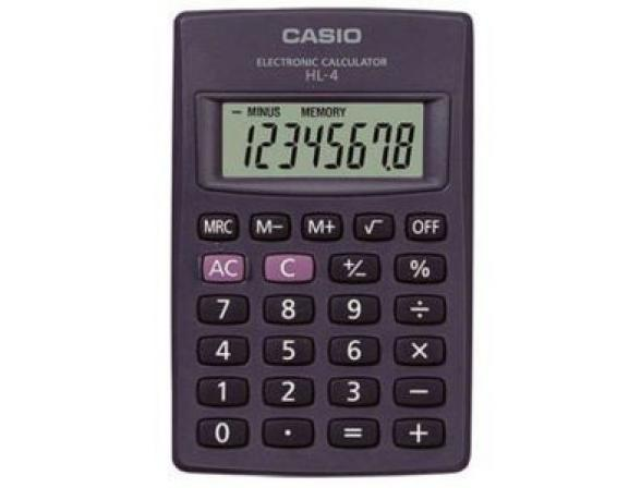 Калькулятор карманный Casio casHL-4-S-GH