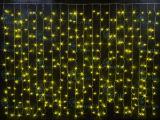 Светодиодный занавес Rich LED 2*1.5 м, мерцающий, с герметичным колпачком, цвет: желтый.