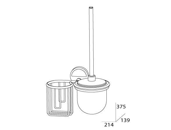 Комплект для туалета с держателем освежителя с крышкой FBS LUXIA LUX 058