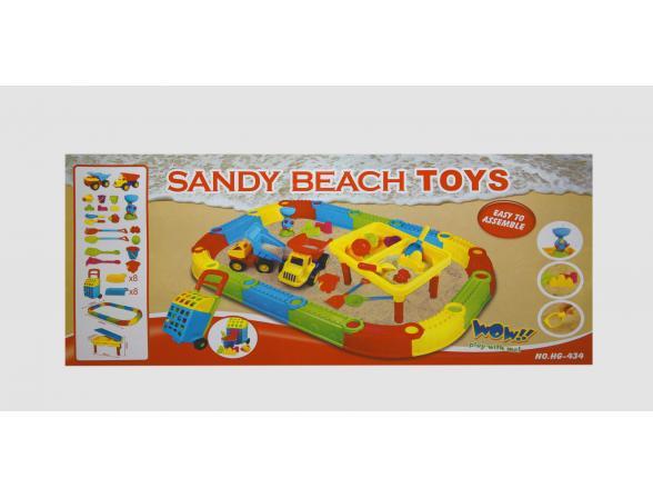 Песочница + Стол EDU-PLAY Веселый Пляж + 19 предметов