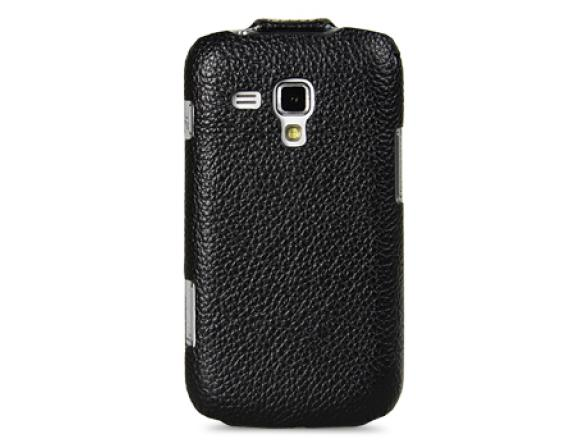 Melkco Leather Case for Samsung Galaxy S Duos S7562 - Jacka Type (Black LC)