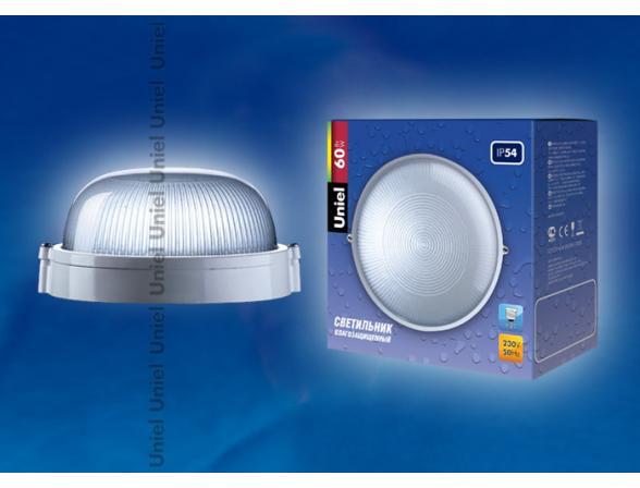 Светильник пылевлагозащищенный Uniel UWL-R-01-060-White